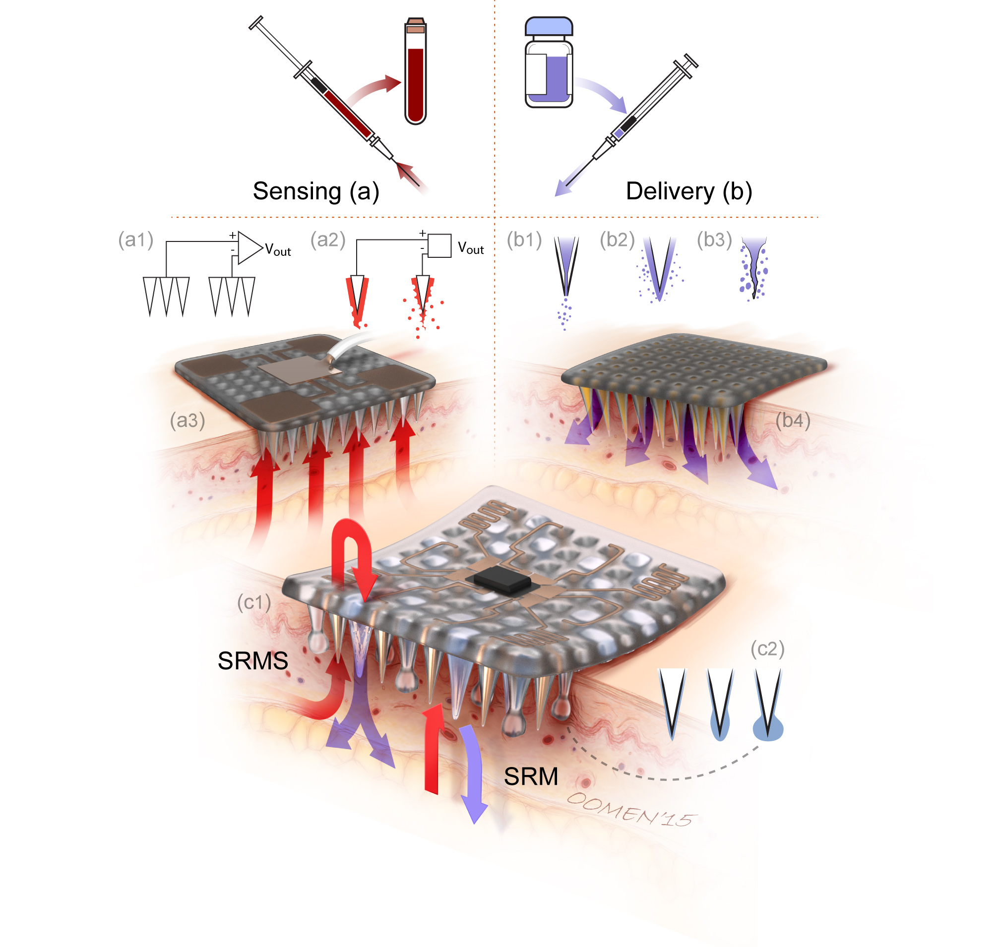 Toward biofunctional microneedles for stimulus responsive drug delivery