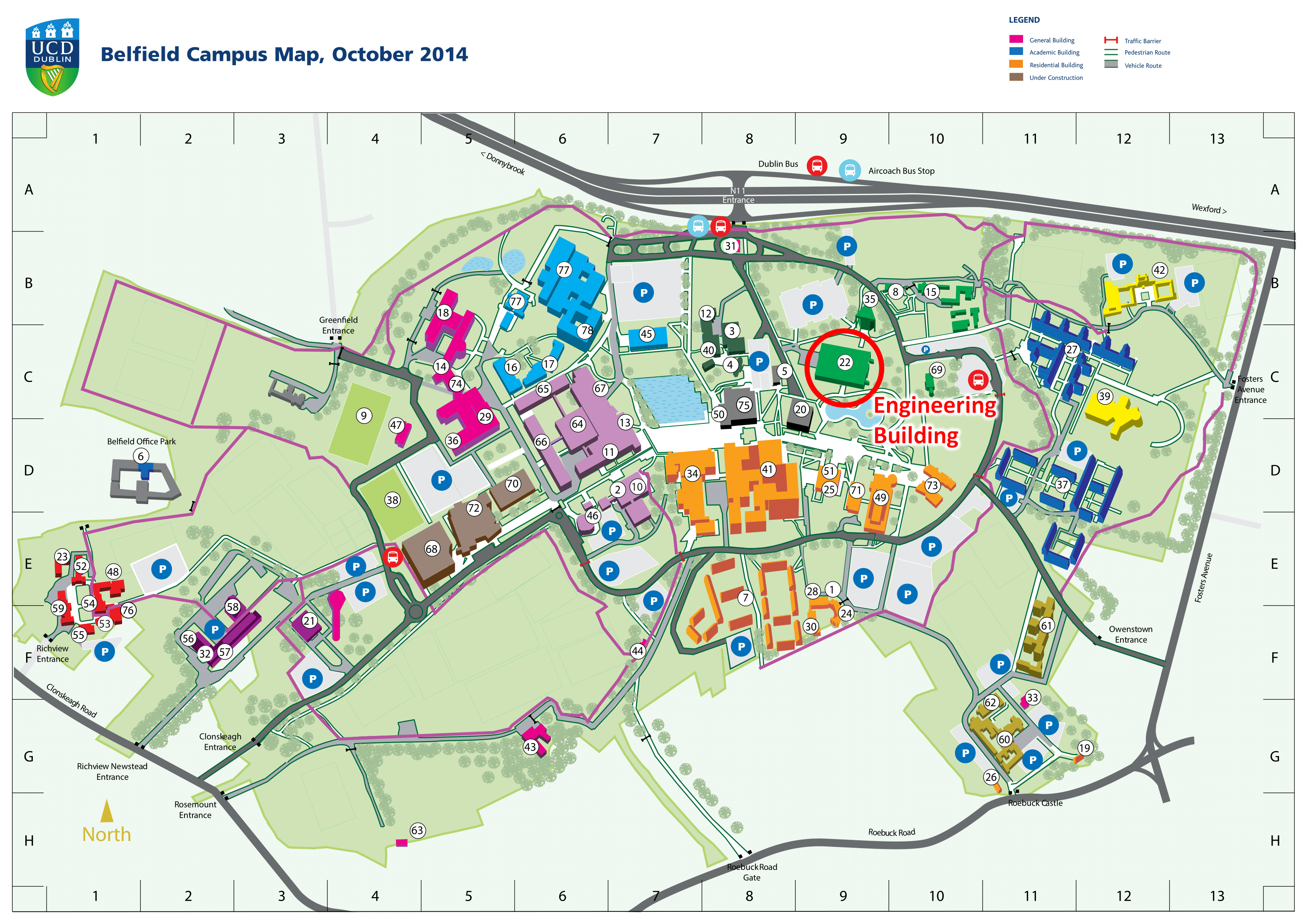UCD Custom Campus Map October 2014